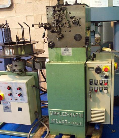 Used rebuilt and second hand spring coiling machines